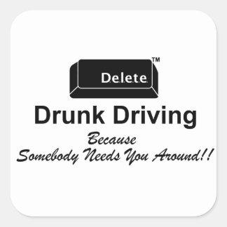 Delete Drunk Driving Sticker