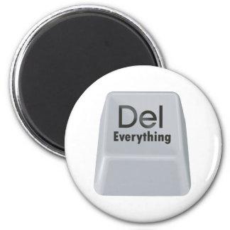 Delete Everything 2 Inch Round Magnet