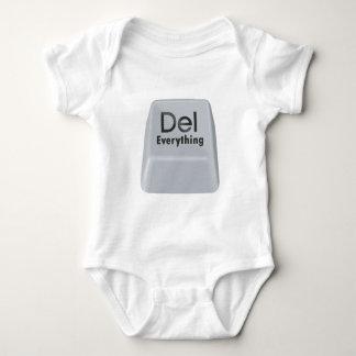 Delete Everything Baby Bodysuit