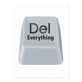 Delete Everything Postcard