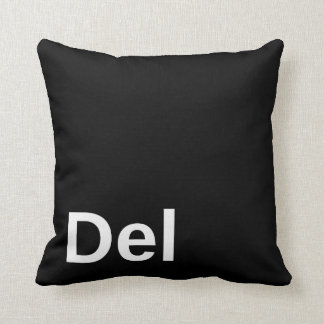 Delete Key Throw Pillows
