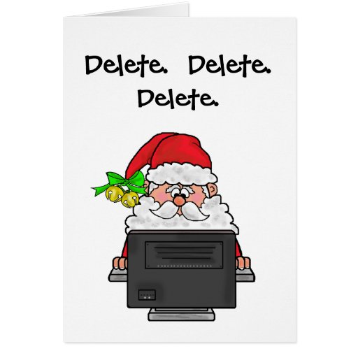 Delete Pounds For Christmas Greeting Card