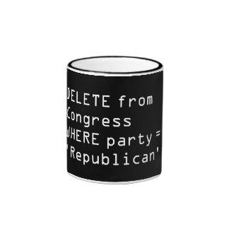 DELETE Republicans FROM Congress - SQL Mug