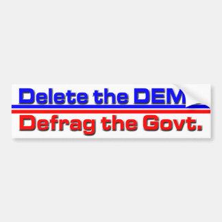 Delete the DEMS Bumper Sticker
