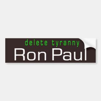 delete tyranny car bumper sticker