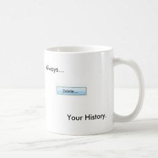 Delete Your History Mug