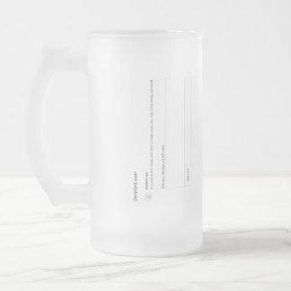Deleted User Frosted Glass Beer Mug