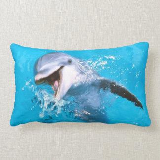 Delfín 2 sonrientes cojín