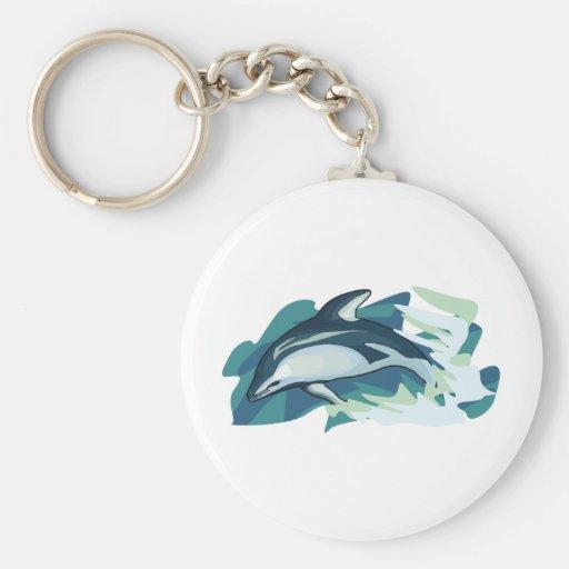 Delfín abstracto llavero personalizado