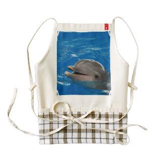 Delfín adorable delantal zazzle HEART