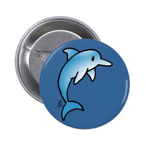 Delfín adorable pins