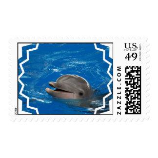 Delfín adorable timbre postal