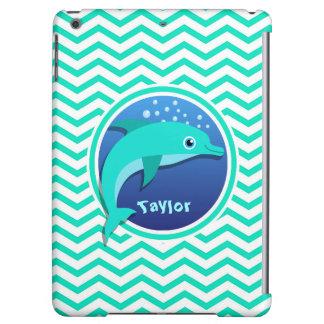 Delfín; Aguamarina Chevron verde