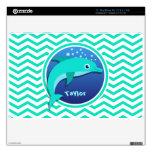 Delfín; Aguamarina Chevron verde MacBook Air Calcomanía