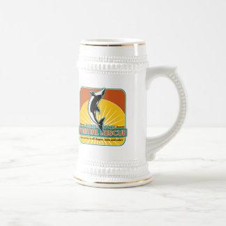 Delfín animal del rescate jarra de cerveza