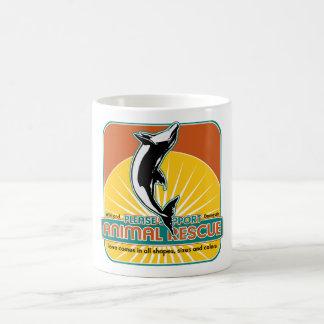 Delfín animal del rescate taza de café