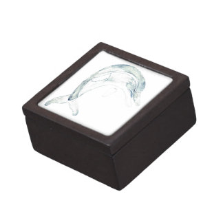 Delfín azul cajas de joyas de calidad