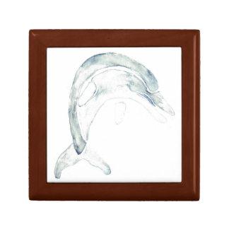 Delfín azul caja de recuerdo
