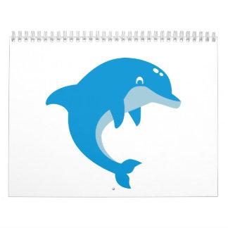 Delfín azul calendarios de pared