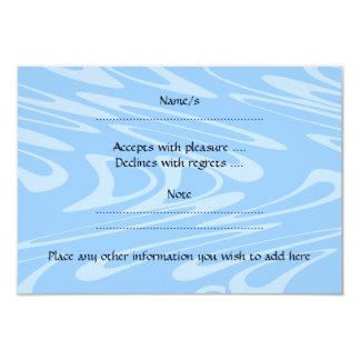 """Delfín azul en modelo ondulado invitación 3.5"""" x 5"""""""