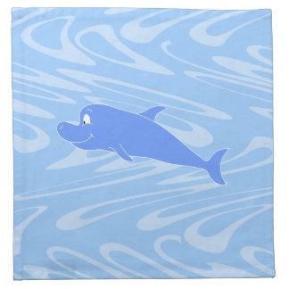 Delfín azul en modelo ondulado servilletas de papel