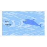 Delfín azul en modelo ondulado tarjeta de visita