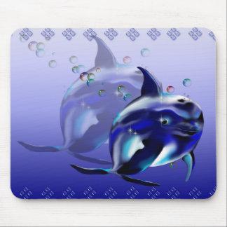 Delfín azul Mousepad