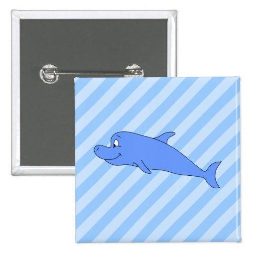 Delfín azul pins
