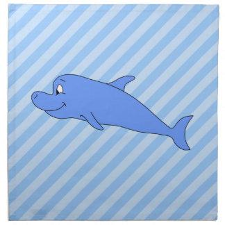 Delfín azul servilleta imprimida