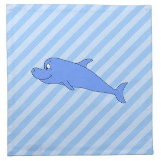 Delfín azul servilleta de papel