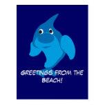 Delfín azul tarjetas postales