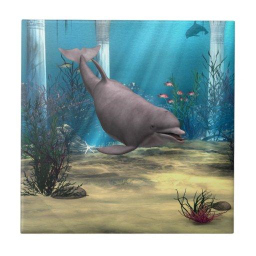 Delfín Azulejo Ceramica