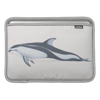 Delfín Blanco-Echado a un lado pacífico Funda Para Macbook Air