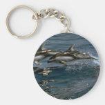 Delfín blanco-echado a un lado pacífico llaveros personalizados
