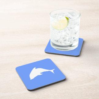 Delfín blanco posavasos de bebidas