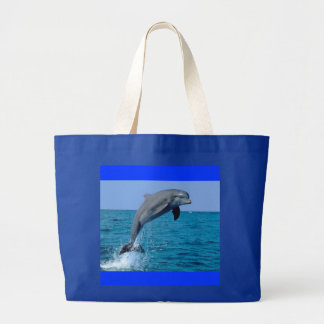 delfín bolsa tela grande