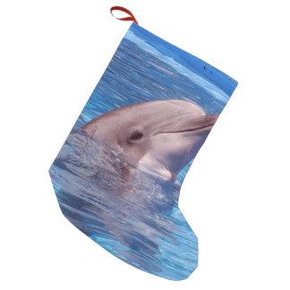 delfín calcetín de navidad pequeño