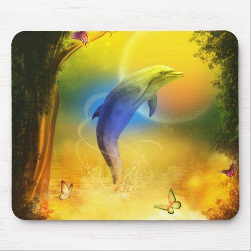 Delfín colorido alfombrillas de ratón