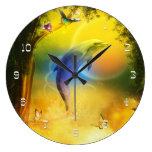 Delfín colorido reloj de pared
