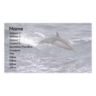 Delfín común de pico largo tarjetas de visita