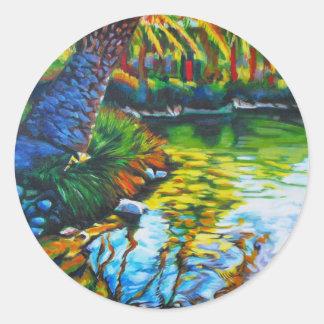 Delfin Daydream Classic Round Sticker