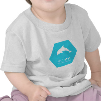 delfín de bottlenose hex.png azul camisetas