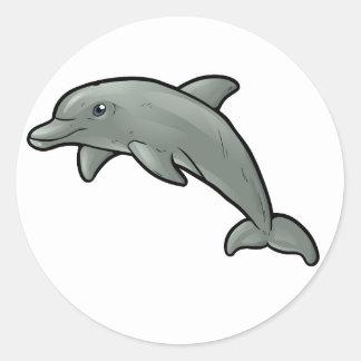 Delfín de Bottlenose Pegatina Redonda