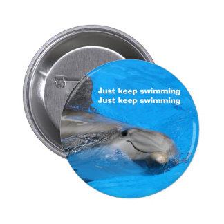 Delfín de Bottlenose sonriente Pin