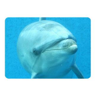 Delfín de Bottlenose subacuático Invitación 12,7 X 17,8 Cm