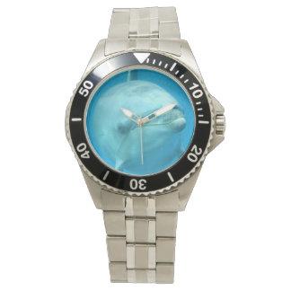 Delfín de Bottlenose subacuático Reloj De Mano