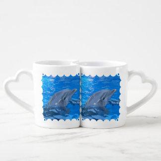 Delfín de Bottlenose Taza Para Parejas