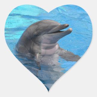 Delfín de la Florida Pegatina En Forma De Corazón