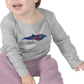 Delfín de la hawaiana camisetas