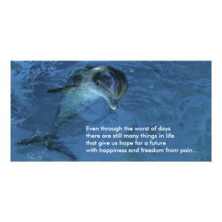 Delfín de la tarjeta de la foto de la esperanza tarjeta personal con foto